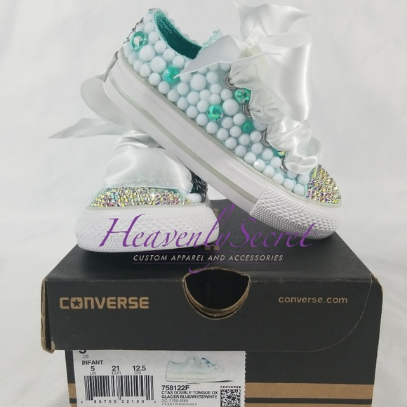 ec96a82b36ef Toddler Size 5 Custom Bling Converse All Star